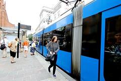 blue klein at plac dominikanski (patrizia_ferri) Tags: poland tramway polonia cracovia tramstop krakov blueklein