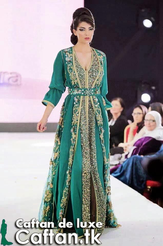 Caftan 2014 vert de tendance (caftans) Tags  en de moderne chic couture  haute d45f6ea689c