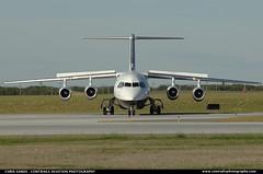 North Cariboo Air RJ100 CGSUI ($and$man) Tags: calgary airplane rj yyc avro northcaribooair
