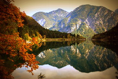 I'm so glad I met you in a world where there are autumns (Cristian Ştefănescu) Tags: autumn lake reflection fall colors mirror fav50 spiegel herbst lac toamna alpen alpi oglinda reflexie culori fav25 mountainsmunti