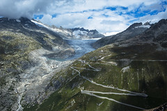 Rhne Glacier and the Furka pass area , No. 2193. (Izakigur) Tags: road blue light summer sky white lake snow mountains alps green nature water clouds alpes landscape liberty photography schweiz switzerland cool nikon bravo europa europe flickr suisse suiza pov hiking swiss feel free lac glacier sua alpen nikkor svizzera 500faves wallis col source hdr lepetitprince ch uri valais thelittleprince dieschweiz grimsel furka rhonegletscher myswitzerland ilpiccoloprincipe lasuisse 100faves oberwald  dammastock skyfall d700 600faves 700faves nikond700 nikkor2470f28 izakigur nikon2470mmf28g izakigur2014