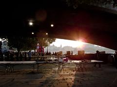 SUNDOWN & SHADOWS UNDER THE BRIDGE_SOUTHBANK_LONDON IMG_9699 (wordly images) Tags: uk bridge sunset london shadows southbank