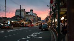 Kyoto Sunset (ryanL.photo) Tags: sunset japan canon 50mm kyoto asia f14 5d kansai shijodori