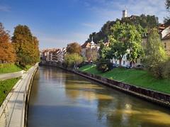 Ljubljanica river (Siim Teller) Tags: old autumn castle river town slovenia ljubljana ljubljanica