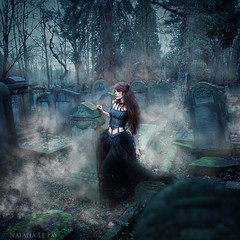 Despair (Natalia Le Fay) Tags: woman nature girl graveyard fog dark lost vampire gothic spooky fantasy despair aviatrix victoriafrances minalou lisaevoluer