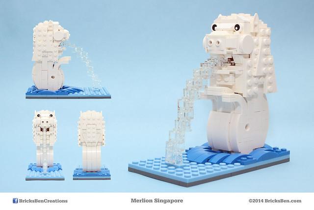BricksBen - LEGO Merlion Singapore Icon - Mug Shots