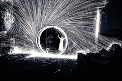 harry bus yourell. september 2016 (timp37) Tags: black white illinois september 2016 light painting pixel stick harry bus yourell worth water reclamation plant wendy steel wool