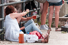 Tramlines 2013 (Roger Hanuk) Tags: groupofpeople beer drinking england everlypregnantbrothers fatcat festival kelhamisland sheffield southyorkshire tramlines women unitedkingdom