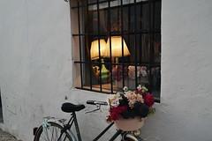 Altea 016 (Alba Pastor) Tags: altea alicante alacant espaa spain nikon bike bycicle bici bicicleta flowers flores window ventana lamp lmpara lights urban city architecture detail beautiful photoshop vsco vscocam edited house