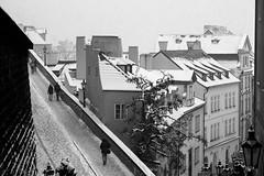 Prague (Tobia Scandolara) Tags: prague urban blackandwhite street bw cityscape praha snow