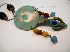 Bronze Mirror (LynzCraftz) Tags: polymerclay resin swellegant steampunk handmade oneofakind jewelry necklace pendant