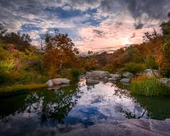 Waiting For The Rain (Calpastor) Tags: sunset valley river creek stream water hills lake fall color orange yellow clouds tulare visalia porterville springville california drought rain