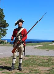 Redcoat with bayonet (Jay Costello) Tags: oldfortniagara americanrevolution warof1812colonialrhistorywarnew york british ny