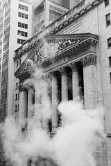 Wallstreet (Boris Peters Arnhem) Tags: new york black white canon 70d usa america ny nyc smoke wallstreet temple bank