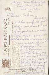 Hyde Park Corner, London - Postcard reverse (Boobook48) Tags: ww1 1918 tuckspostcard hydeparkcorner