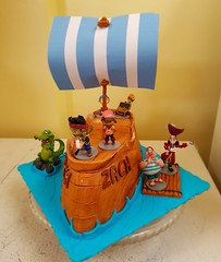 Jake and the Neverland Pirates Cake (DC Cafe Roxas) Tags: jake never land pirates fondant cake dc cafe roxas city divine cakes bakeshop iloilo