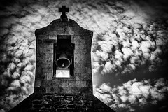Chausey church (Rayoflightbe) Tags: normandi travel normandy black white church clock the chausey islands ile de architecture
