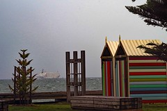 Stormy weather Fremantle Western Australia (mpp26) Tags: storm cloud weather fremantle westernaustralia ship bathing shed stripe colour foreshore