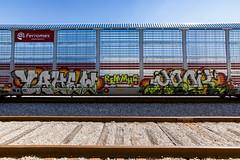 (o texano) Tags: houston texas graffiti trains freights bench benching yahew mook nfm stk mhc