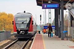 Hungarian State Railways (MAV) passenger service departing Aquincum felso Halting (Albert Lugosi) Tags: acquincum budapest hungary train mav desiro acquincumfelso signal railwaysignal