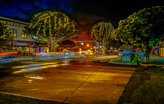 Downtown evening--DSC00067--Pacific Grove, CA (Lance & Cromwell back from a Road Trip) Tags: downtown pg pacificgrove montereypeninsula montereycounty california nightshots nightphotography sony sonyalpha a7s fe2870mm