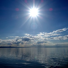 """    "" (Petra U.) Tags: bodensee blue sun summer water see lastyear fernweh heaven clouds"