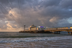 Storm Clouds Brewing Over The Pier (ian.berridge1) Tags: pier bournemouth dorset sea ocean drama clouds sunrise landscape olympus panasonic