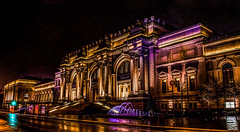 New York Metropolitan Museum on a rainy night. (The Sergeant AGS (A city guy)) Tags: 2013 architecture city colors icons new york old pictures sony street tourists united states urban walking