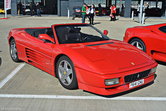 Ferrari 348 spider (CA Photography2012) Tags: p641gnu ferrari 348 spider v8 convertible supercar rosso corsa prancing horse sportscar spyder ca photography automotive exotic car spotting passione silverstone