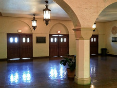 main lobby, Miami Senior High School (1928), 2450 SW 1st St, Miami, FL, USA (lumierefl) Tags: miami florida unitedstates us miamidadecounty fl usa south southeast subtropics northamerica architecture building government education publicschool schoolhouse mediterraneanrevival gothic 1920s 20thcentury interior