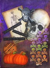 Halloween Day 1 - Skeletons (anmunozjr) Tags: halloween2016 art mixedmedia