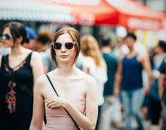 All the Places and Spaces I've Been (Calvin J.) Tags: toronto vsco bokeh kensingtonmarket canada summer sunglasses dress redhead straplessdress cute pack05 canon 5dmarkiii ef135mmf2l primelens