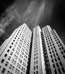 City Block (Graeme Tozer) Tags: california buildings skyscraper sanfrancisco blackandwhite city usa