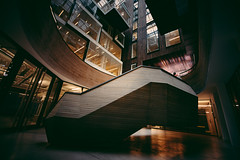 Watchman of the Golden Shoe (Panda1339) Tags: openhouse alphabeta london futuristic architecture stair shoe openhouselondon 2016 nikon 14mm uk exploreno8