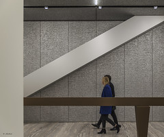 internal walk (G.hostbuster (Gigi)) Tags: pradafoundation milan internal people architecture geometrie ghostbusters