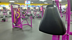 Work Out Equipment (Happy 16th Anniversary To US!) Tags: theflickrlounge perspective morning gym planetfitness equipment black purple yellow