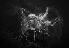 Tangled (Maren Klemp) Tags: fineartphotography fineartphotographer blackandwhite monochrome hair selfportrait darkart nature outdoors portrait evocative expressive tangled symbolic woman fairytale ethereal dreamy thewoods conceptual surreal