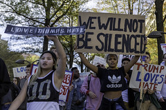 We Will Not Be Silenced, Protesters marching along Pennsylvania Ave to the Capitol, DC (Lorie Shaull) Tags: trump notmypresident washingtondc election2016 donaldtrump trumpinternationalhotel protest pennsylvaniaave lovetrumpshate wewillnotbesilenced