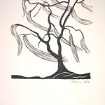 "<b>Tree in Wind</b><br/> Gerhard Marcks (1889-1981) ""Tree in Wind"" Woodcut, 1948 LFAC #2004.07.01<a href=""//farm6.static.flickr.com/5559/30829021366_be086775a9_o.jpg"" title=""High res"">∝</a>"