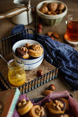 IMG_3907_exp (Helena / Rico sin Azcar) Tags: galletas cookies nueces nuts walnut naranja orange almendra almond chocolate vanilla vainilla mantequilla butter dessert food christmas