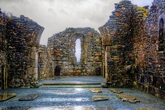 Cathedral At Glendalough (gr8fulted54) Tags: tonemapped hdr photomatix on1 luminar nikon d7100 ruins