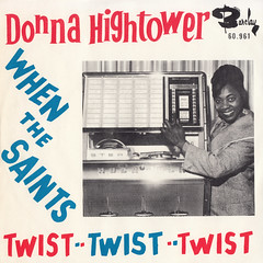 Donna Hightower - Rock-Ola Blues/When the saints go marching in 45rpm (back cover) (oopswhoops) Tags: vinyl 45rpm twist blues hightower barclay