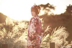 IMG_6143 (Keven Chiou) Tags: serene liu girl 浴衣 台灣 taiwan taipei model 逆光 芒花 陽明山 後製 薩琳
