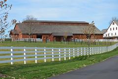 Conowingo & Lancaster 066 (dena429) Tags: horsebarn largebarn farm barn field fence whitefence lancastercounty pennsylvania agriculture farming