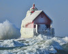 DSCN8399 ps - Copy (John Rothwell) Tags: grandhaven holland michigan lake lakemichigan waves gust gale winter nature december lighthouse