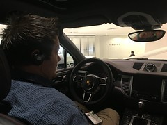 Roger in the Macan!