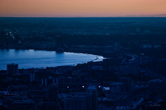City by a Lake (jed52400) Tags: lakeontario toronto ontario canada sunset city urban cntower buildings highways