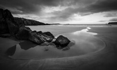 The cycle of nature (Premysl Fojtu) Tags: pool rockpool water shapes rock sand seascape sea landscape nature natural blackandwhite bw monochrome dslr eos canon 5dmkii ef1740 fullframe wideangle dramatic sky composition