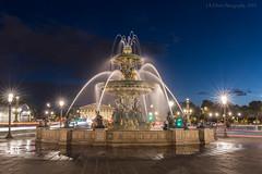 Fontaine de la Concorde Blue Hour (elliott845) Tags: blue bluehour thebluehour paris europe lowlightphotography longexposure fountain fontainedelaconcorde placedelaconcorde