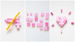 Make love, not war (fred_v) Tags: flickrfriday makelovenotwar lego pink rose